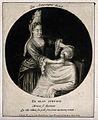 A female barber shaving a man. Mezzotint by I. Gale (?) Wellcome V0019726ER.jpg
