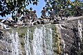 A touch of Nek Chand atop the big waterfall (44223596702).jpg