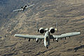 A two-ship A-10 Thunderbolt II formation flies a combat mission over Afghanistan.jpg