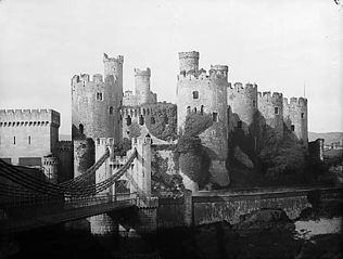 A view of Conwy castle from the \