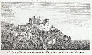 A view of Harlech-Castle in Merioneth-Shire in Wales