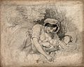 A woman breast feeding her child. Stipple engraving, 1810, a Wellcome V0015039.jpg