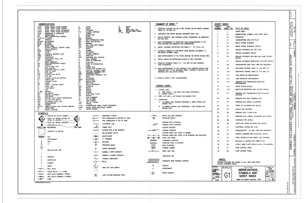File abbreviations symbols and sheet index hawaii - General notes for interior design drawings ...