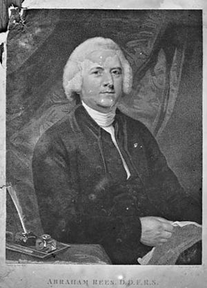Abraham Rees - A photograph of a print by Thomas, John c. 1875