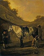 Boy Holding a Horse