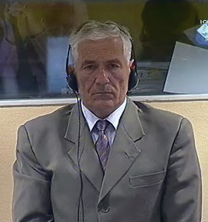 Mile Mrkšić - Mile Mrkšić in a Hague courtroom in May 2009