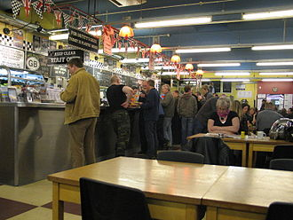 Ace Cafe - Interior of the cafe, 2008