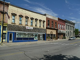 National Register of Historic Places listings in Jefferson County, New York - Image: Adams Commercial Historic District Adams NY Jul 10