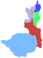Administrative map of Amol County.png