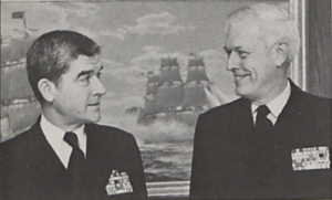 Worth H. Bagley - Four-star admirals Worth H. (left) and David H. Bagley.