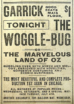 The Marvelous Land of Oz - 1905 advertisement in the Chicago Record Herald