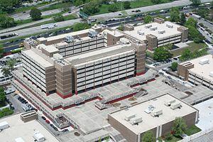 Harry S. Truman High School (Bronx) - Closeup aerial view of Truman High School.