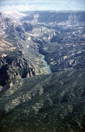 Gunnison Gorge National Conservation Area - Image: Aerial View of Ute Park