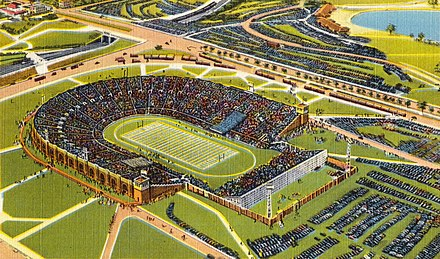 Philadelphia Municipal Stadium was the Eagles home field from 1936-1939 and then again in 1940 Aerial view of Municipal Stadium, Philadelphia, Pa (65080) (cropped1).jpg
