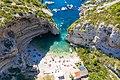 Aerial view of Stiniva Beach on Vis island in Croatia (48608800632).jpg