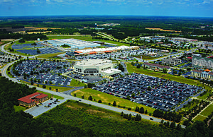Florence, South Carolina - Aerial view of Florence Civic Center