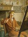 Aert Schouman - Portret van een schilder, misschien de schilder zelf - SK-A-4157 - Rijksmuseum.jpg
