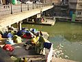 Afghan refugees, living on the Canal Saint Martin, underneath a bridge.jpg