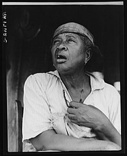 African American woman during the Great Depression in Hinds County, Mississippi