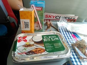 Buy on board - An Air Asia X Pak Nasser's nasi lemak box