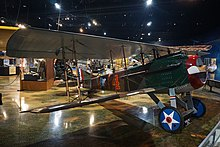 SPAD S.VII World War I fighter replica inside the Kalamazoo Air Zoo