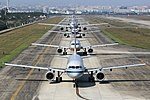 Airbus airliners lined up at Chengdu.jpg