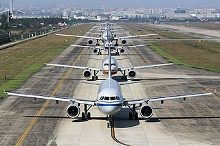 Taxiing Movement of an aircraft on the ground, under its own power
