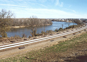 The Alabama River in Montgomery, Alabama