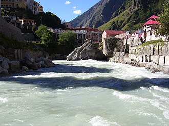 Alaknanda River - River Alaknanda near Badrikashram