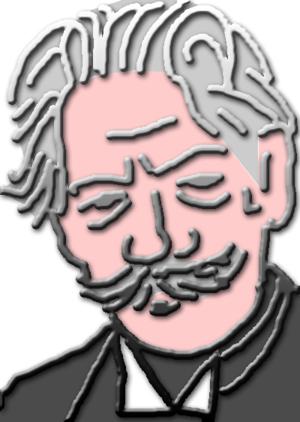 Grafische Darstellung des Portraits von Albert...