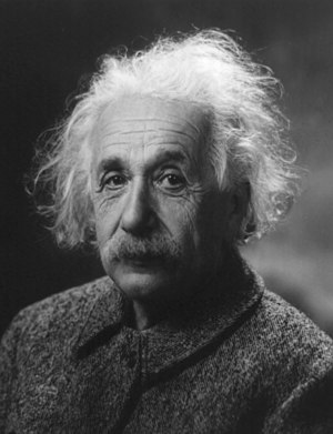 English: Albert Einstein. Français : Portrait ...