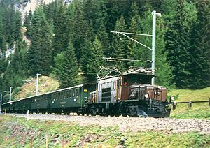 Albula Railway - Nostalgic train near Preda