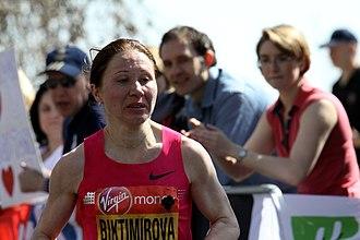 Alevtina Biktimirova - Biktimirova at the 2013 London Marathon