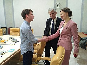 Alex Gilbert - Gilbert meeting Anna Kuznetsova (The Children's Rights Commissioner for the President of the Russian Federation) Moscow, Russia October 2017