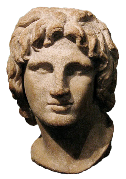 Bust of a young Alexander the Great from the Hellenistic era, British Museum AlexanderTheGreat Bust Transparent.png