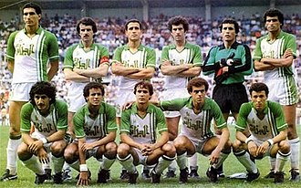 Algeria national football team - Algeria's squad against Austria during 1982 FIFA World Cup