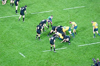 History of rugby union matches between Australia and New Zealand - The two countries playing in 2005 at Telstra Stadium in Sydney, New South Wales