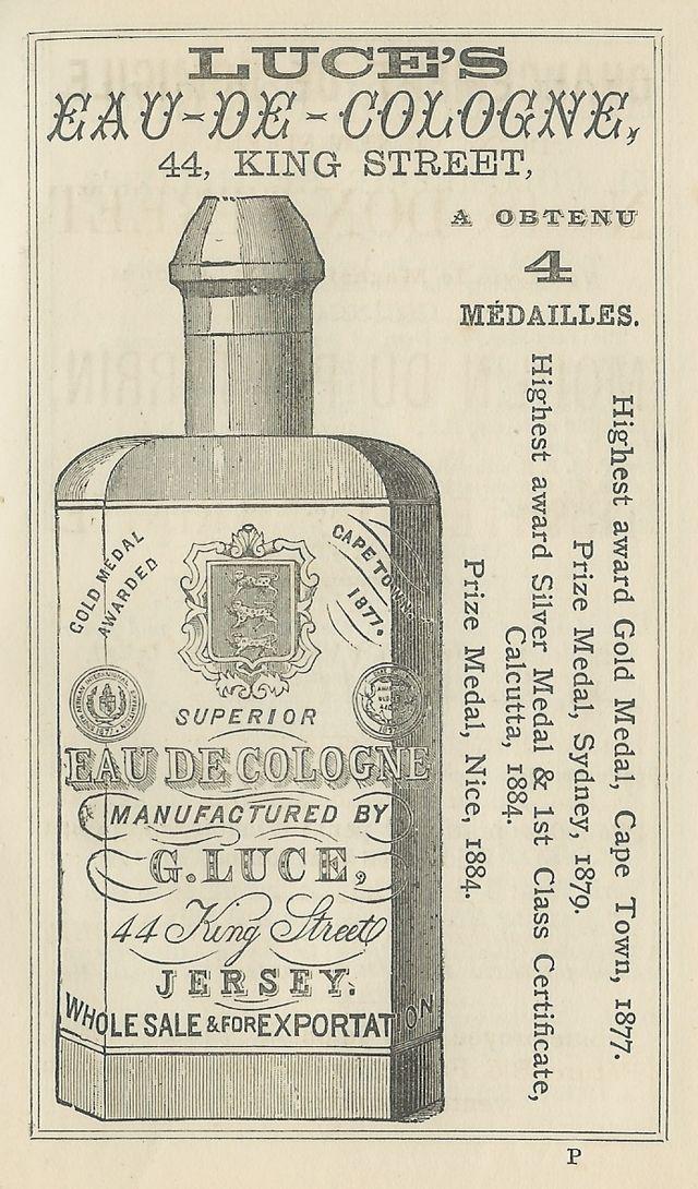Eau de Cologne w 'Almanach Nouvelle Chronique de Jersey' (1891)