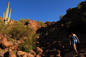 Camelback Mountain - Image: Along Camelback Mountain trail September 2008