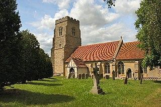 Alpheton farm village in the United Kingdom