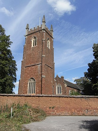 Alphington, Devon - Church of St Michael and All Angels, Alphington, tower viewed from SW