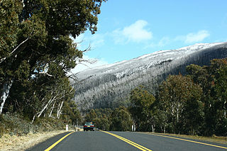Alpine Way highway in New South Wales
