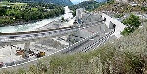 NRLA - South portal of Lötschberg Base Tunnel near Raron VS