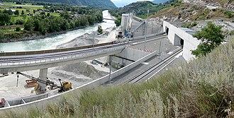 NRLA - South portal of the Lötschberg Base Tunnel near Raron, Valais