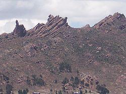 Eros�o e�lica, rochas metam�rficas nos arredores de Puno
