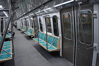 Buenos Aires Underground 100 Series - Interior of a 100 Series car after refurbishment