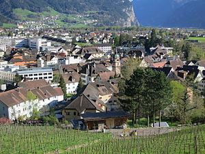 Sicht auf Altdorf vom Kapuzinerkloster