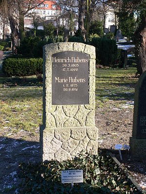 Heinrich Rubens - The grave of Heinrich and Marie Rubens in Berlin.