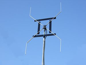 An altered AWX antenna which had been designed...