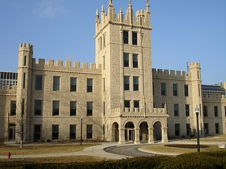 DeKalb, Illinois - Altgeld Hall, the first building to be constructed at NIU.